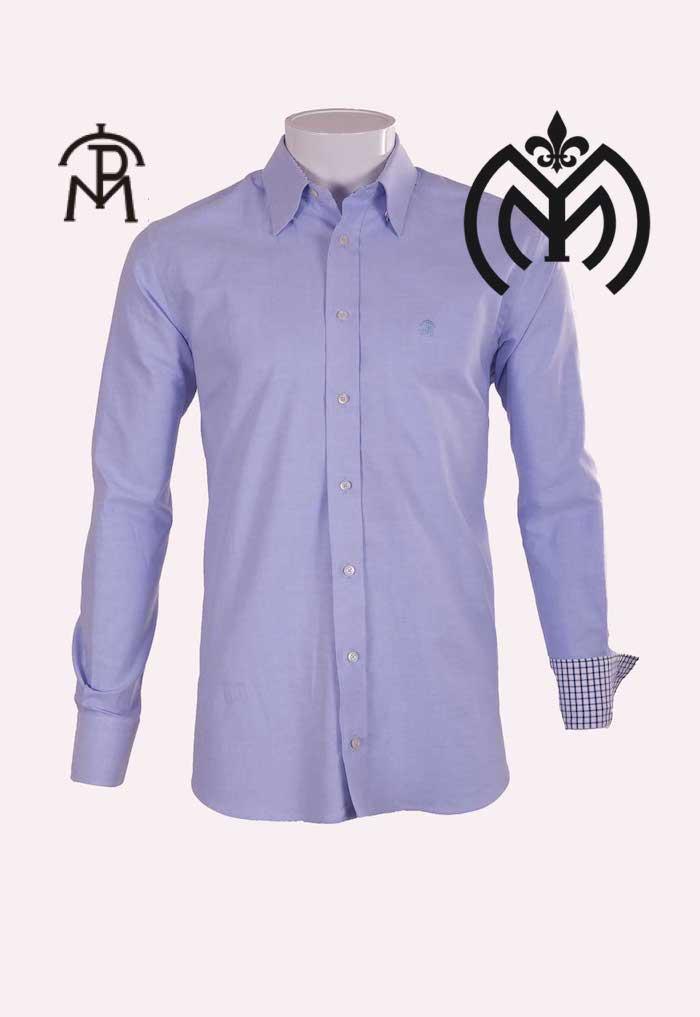 Camisa Hombre Pasion Morena® mod.01-060 Celeste