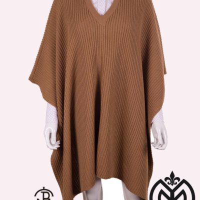 Poncho Tricot 04-035-CAMEL
